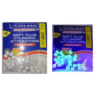 Colmic Super Soft Fluo  Sinking Cylindrical Beads